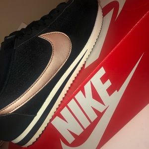Nike Shoes - Black and rose gold Nike Cortez